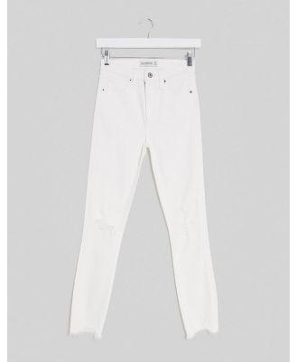 Abercrombie & Fitch high waist skinny denim jean in white