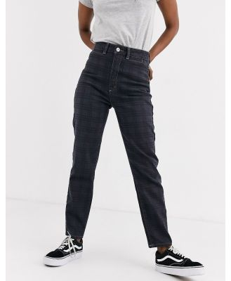 Abrand '94 high slim jeans in check-Black