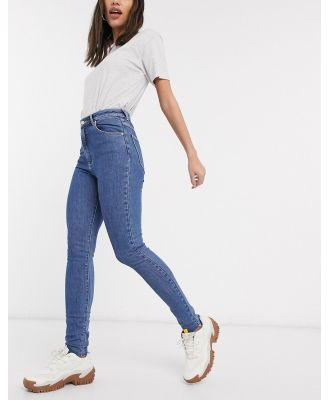 Abrand high rise skinny jeans in darkwash blue