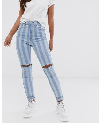 Abrand high skinny ankle grazer jeans-Blue