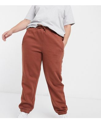 adidas Originals Cosy Comfort Plus oversized cuffed trackies in brown
