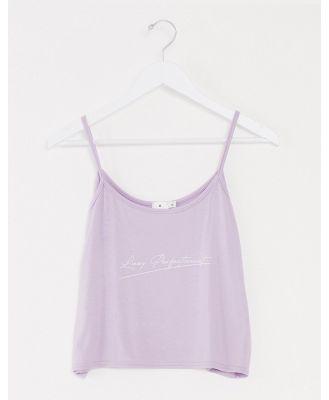 Adolescent Clothing lazy perfectionist cami short set-Purple