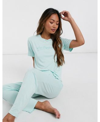 Adolescent Clothing lazy perfectionist T-shirt and pants pyjama set-Pink