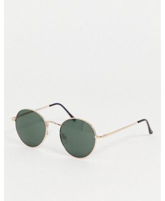 AJ Morgan round sunglasses in gold