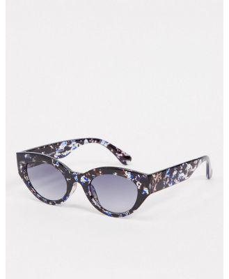 AJ Morgan slim retro sunglasses in blue tort