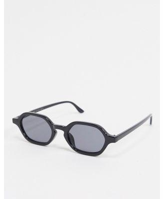 AJ Morgan slim square sunglasses in black