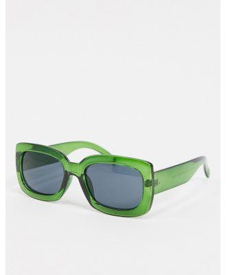 AJ Morgan square sunglasses in green