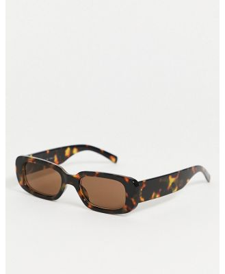 AJ Morgan Square Sunglasses In Tort - Brown