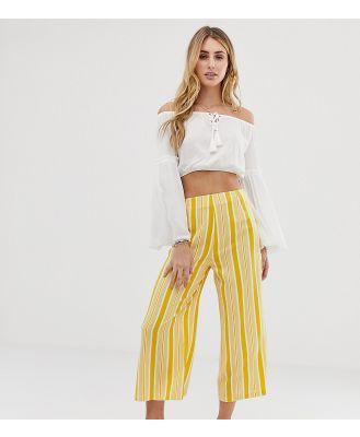 Akasa Exclusive yellow stripe beach culottes - Multi