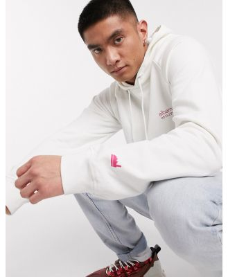 Albam Utility hoodie with chest brand in white