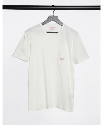 Albam Utility logo pocket T-shirt in white