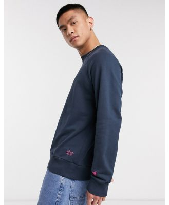 Albam Utility sweatshirt with chest brand in navy