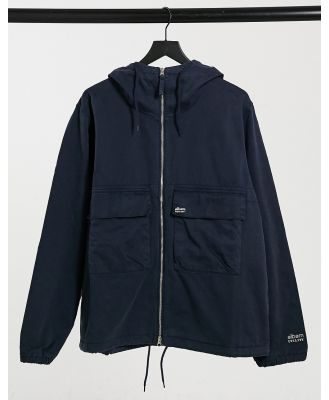 Albam Utility twill hooded jacket in navy