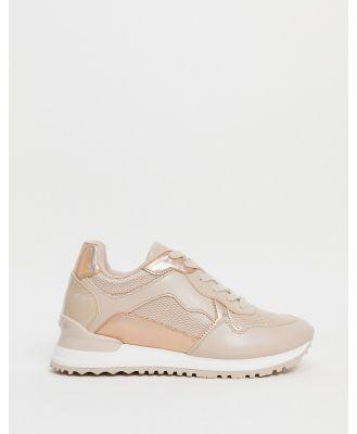 ALDO Drathis runner sneakers in pink-White