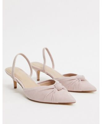ALDO Galaecia mid heel slingback with knot detail in light pink