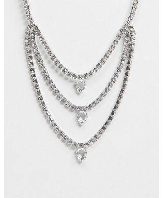 ALDO Taxandria tierred statement necklace-Silver