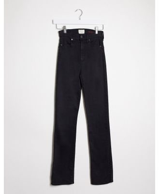 Alice & Olivia Jeans high rise kick flare jeans in black