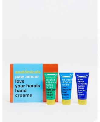 Anatomicals Paw Amour love your Hands 3 x hand creams-No Colour