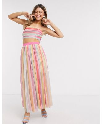 Anaya With Love midaxi prom skirt in stripe print-Multi