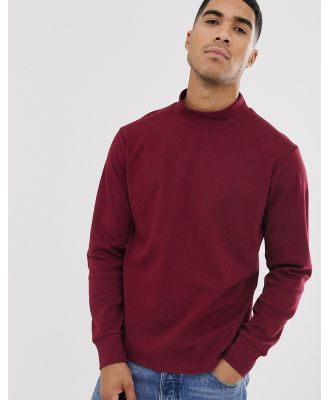 Another Influence high neck long sleeve top-Red