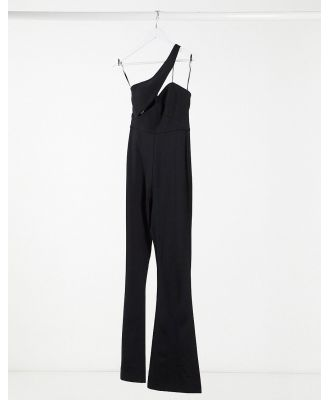 AQAQ cut out detail jumpsuit in black