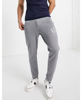 Armani Exchange icon casual track pants in grey