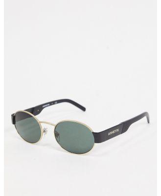 Arnette round sunglasses in black/gold 0AN3081