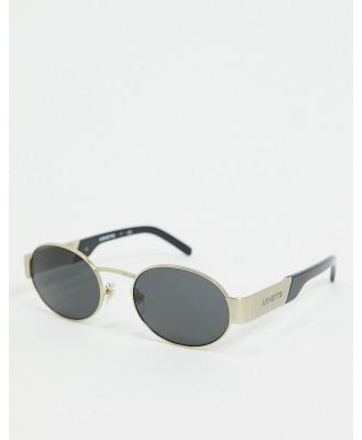 Arnette round sunglasses in gold 0AN3081