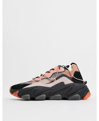 Ash Extra chunky panelled sneakers in coral multi-Pink