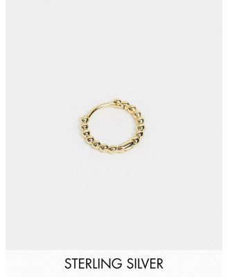 Astrid & Miyu charm collection ball single huggy earring in gold