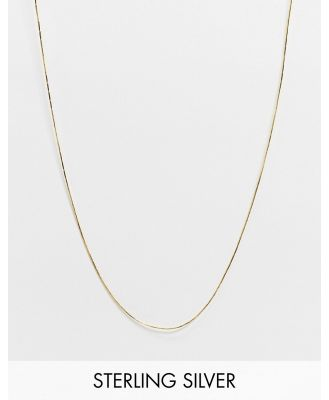 Astrid & Miyu charm collection long bar chain necklace in gold