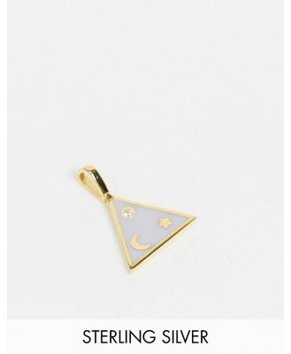 Astrid & Miyu charm collection triangle enamel necklace charm in gold