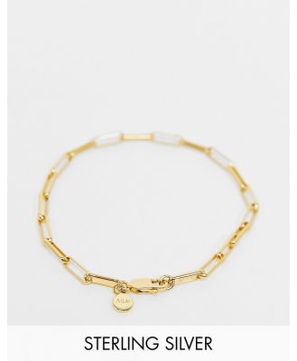 Astrid & Miyu long link chain bracelet in sterling silver with gold plate