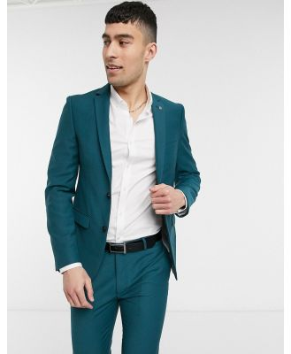 Avail London skinny fit suit jacket in teal-Blue