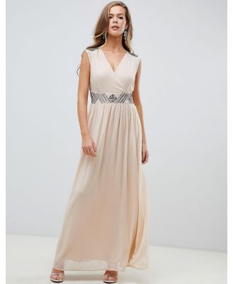 AX Paris cream maxi dress with embellished detail