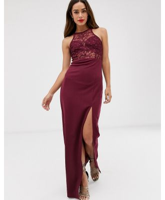 AX Paris lace maxi dress-Red