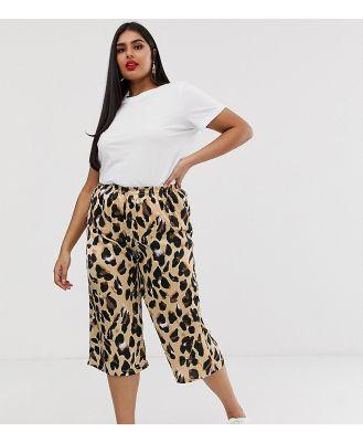AX Paris leopard print cropped pant-Multi