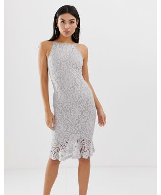 AX Paris Midi fishtail dress-White