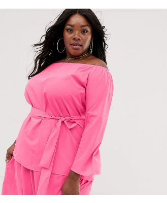 AX Paris Plus neon bardot top-Pink