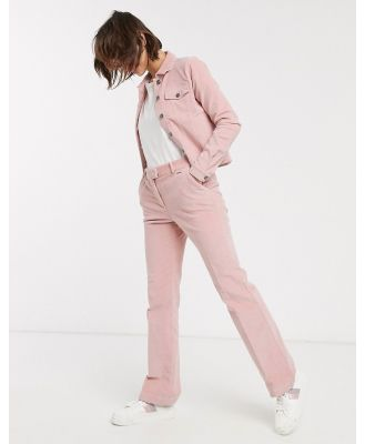 b. Young wide leg pants-Pink