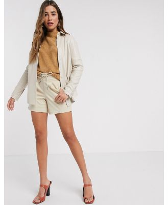 b.Young relaxed shorts-Tan