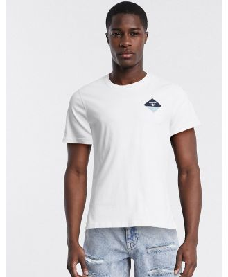 Barbour Beacon small diamond t-shirt in white