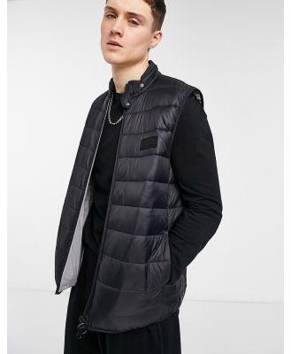 Barbour International baffle vest in black