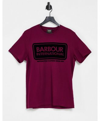 Barbour International frame t-shirt in berry-Red