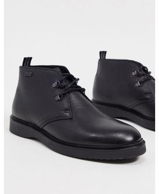 Barbour International Piston leather boots in black