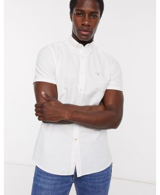 Barbour oxford short sleeve shirt in white