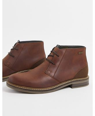 Barbour Readhead lace-up leather boots in tan-Brown