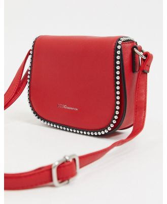 BCBGeneration leah crossbody bag with stud trim detail-Red