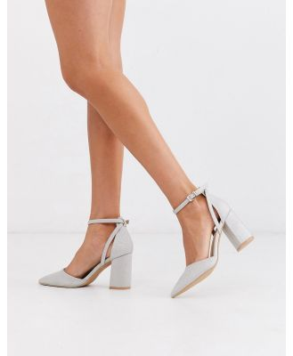 Be Mine Bridal Katy heeled shoes in silver glitter