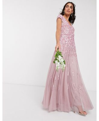 Beauut embellished maxi dress in soft pink